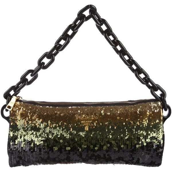 2a156e090770 Pre-owned Prada Sequin-Embellished Shoulder Bag ( 395) ❤ liked on Polyvore  featuring bags