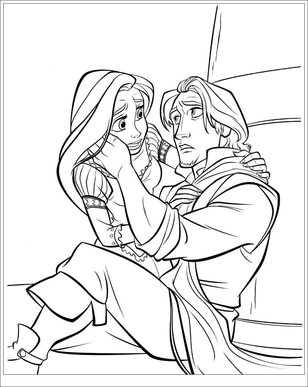 disney tangled coloring pages printable | Coloring Tangled ...