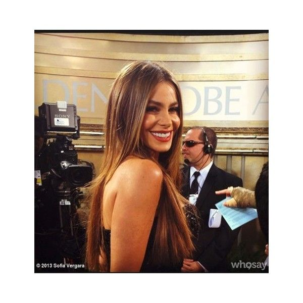 """SOFIA VERGARA """"More red carpet!!"""" the Modern Family star posted on her... ❤ liked on Polyvore"""