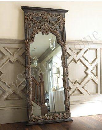 Lavish Extra Large 68 Baroque Floor Leaner Mirror Full Length Wall Antique Vine Ebay Antique Floor Mirror