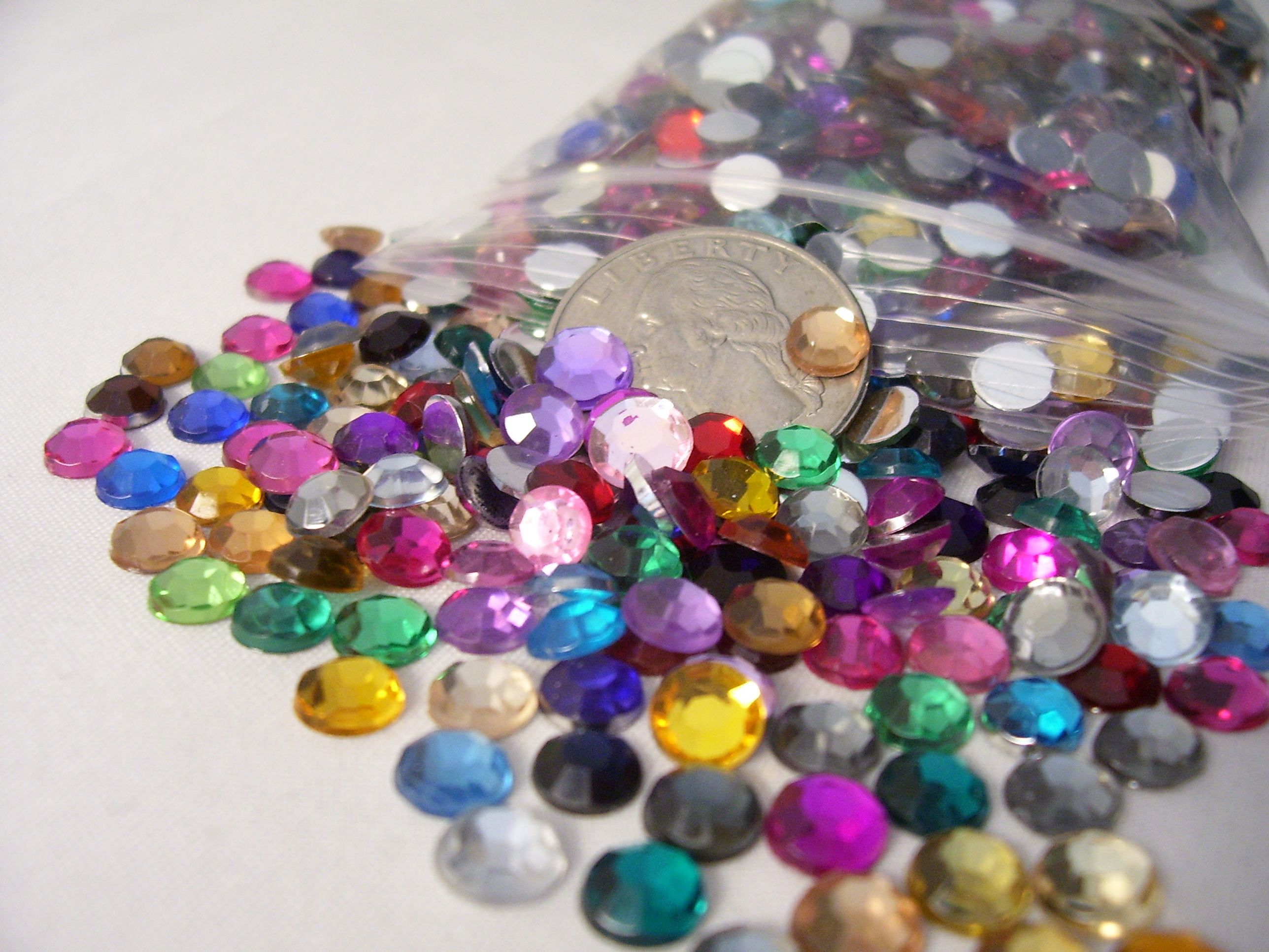 Bulk Loose Flat back 1400 - 2100 Gems Rhinestones Jewels Assorted ...