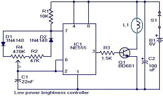low power brightness controller circuit electronic circuits rh pinterest com
