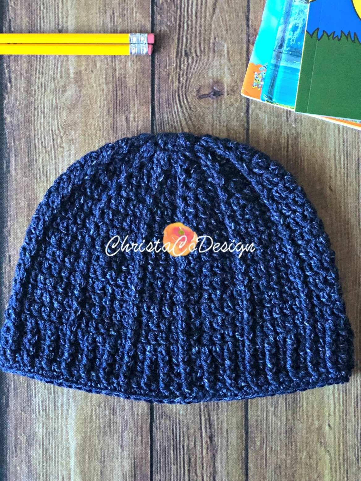 Bravo Beanie Free Crochet Hat Pattern #freepattern