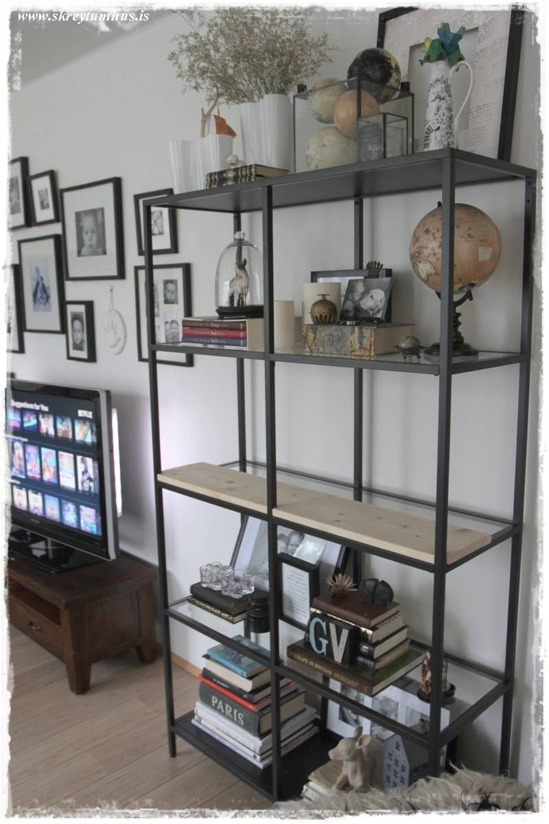 Turning the Vittsjö shelving rustic and industrial (IKEA