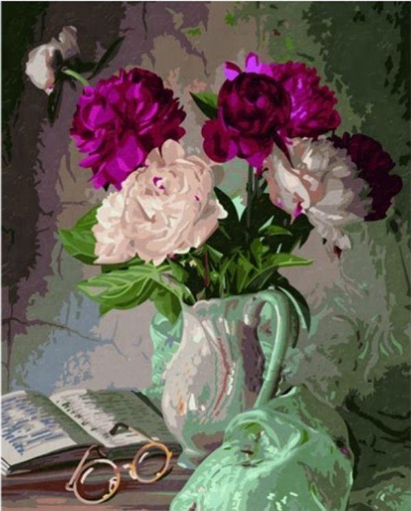 'Пионы в вазе', серия 'Цветы' | Изображение пионов ...
