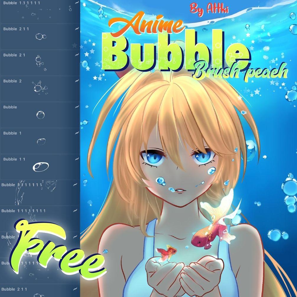 Free anime bubble brushsetfor procreate 5 free