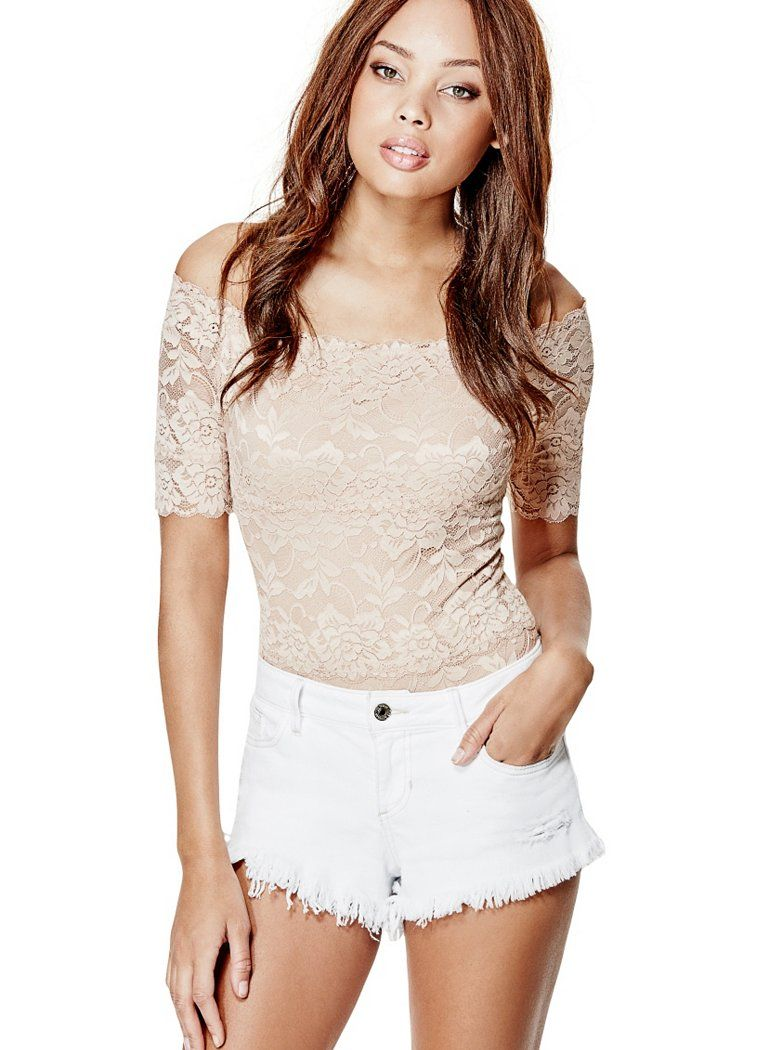 ff357d3396f6 Dara Off-The-Shoulder Lace Bodysuit