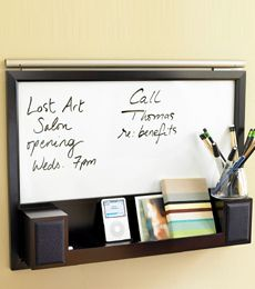 Whiteboard with built-in iPod Speaker Station