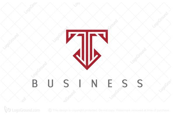 Elegant Letter T Logo Lettering Financial Logo Letter T