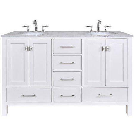 Home Improvement White Vanity Bathroom Double Sink Bathroom