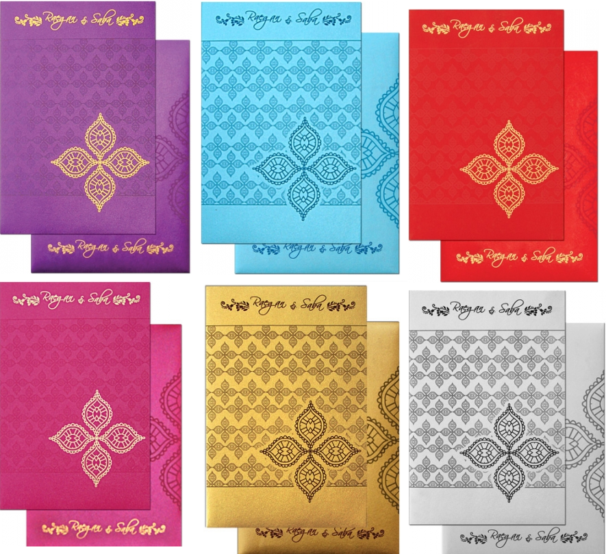 Christian Wedding Cards are available in various colors. Which color ...