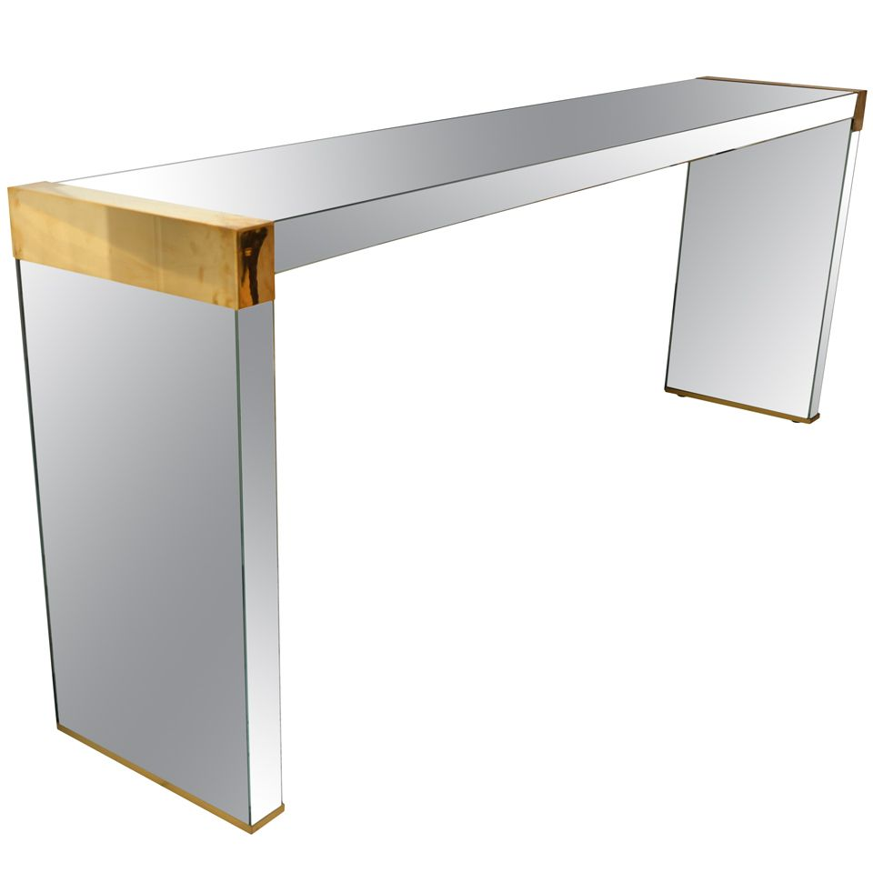 Glass console table with mirror stdibs  console in mirror explore items from  global dealers