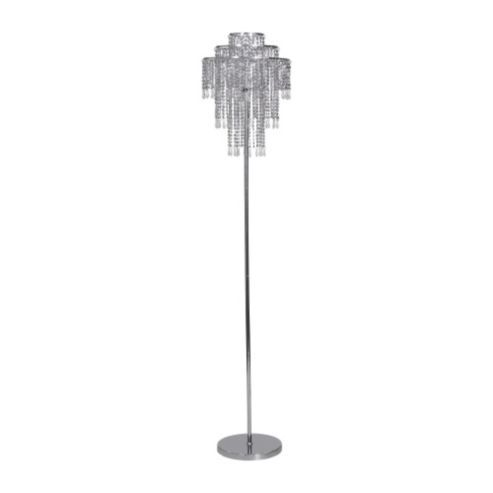 Kliving Silver Beaded Floor Lamp