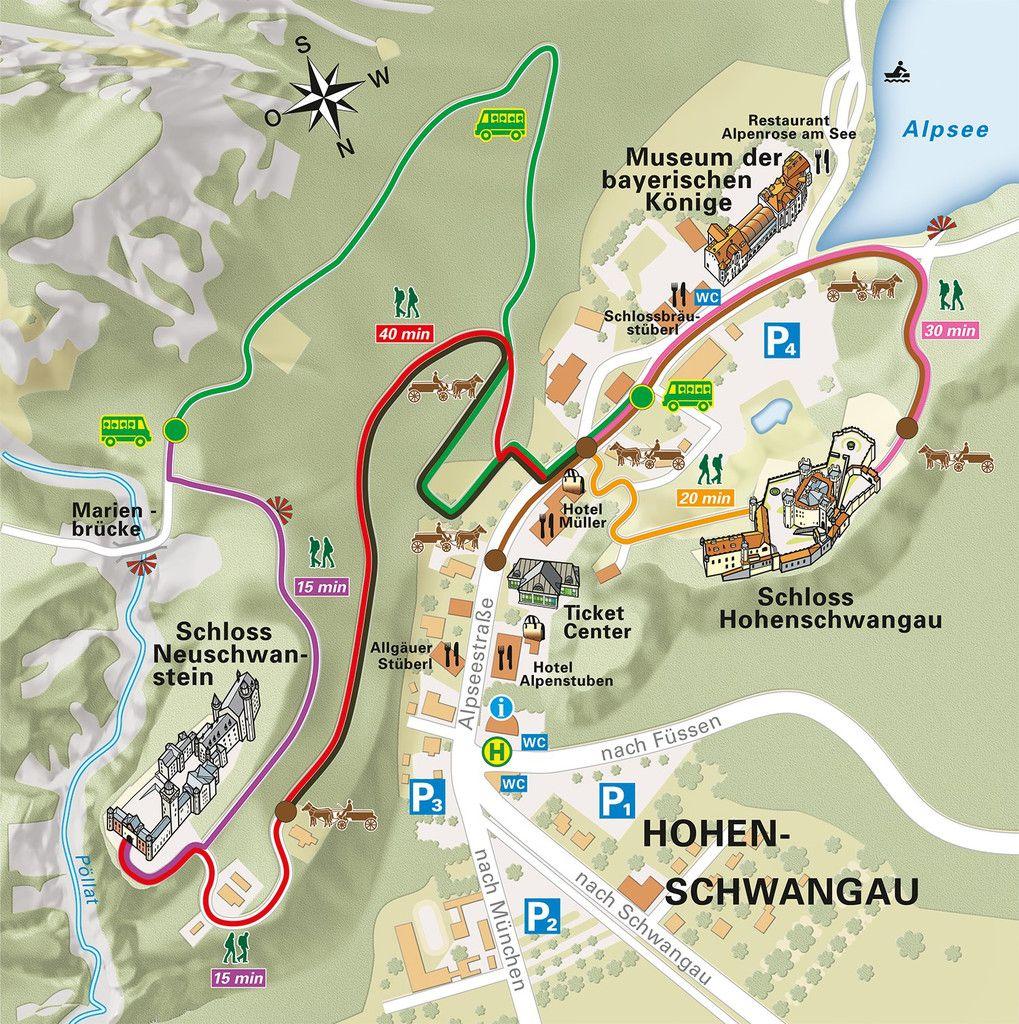 Car Neuschwanstein My Travel Map Local Map Map