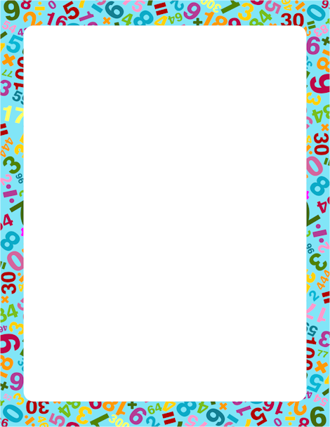 great border for math teachers featuring numbers and symbols in different colors free also pin by muse printables on page borders clip art rh pinterest