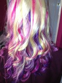 Purple And Pink Highlights Blonde Hair With Highlights Cool Hair Color Blonde Highlights On Dark Hair