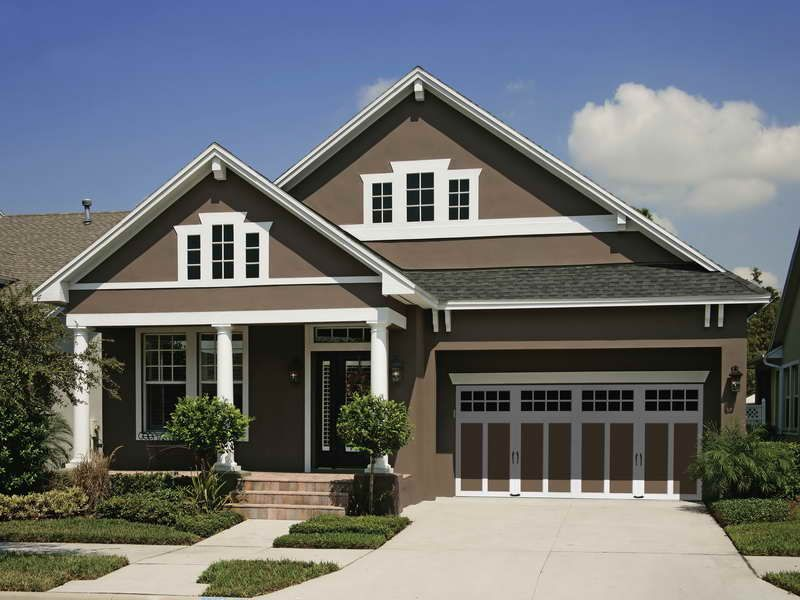 Brown And White Exterior House Exterior Color Schemes House