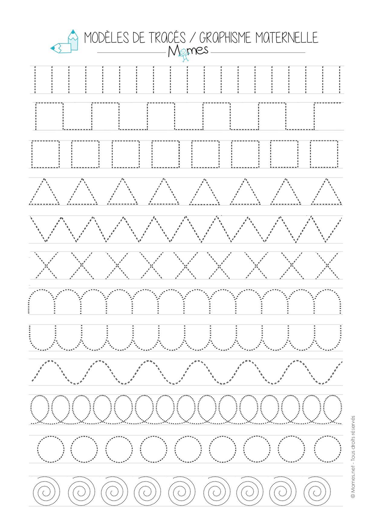 Modèles De Graphisme En Pointillé Graphismes Maternelle