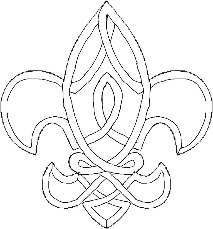 point lace pattern - fleur de lis by EruwaedhielElleth.deviantart ...