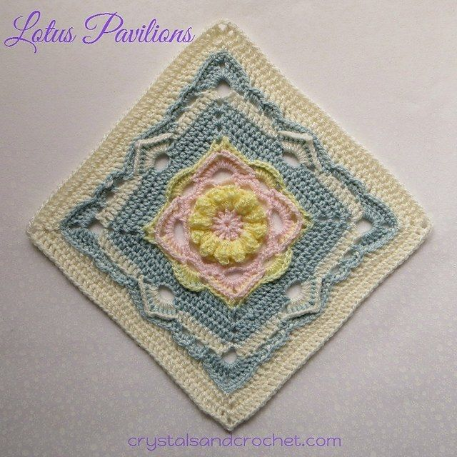 Free Pattern] Incredibly Beautiful 12 Inch Lotus Flower Square ...