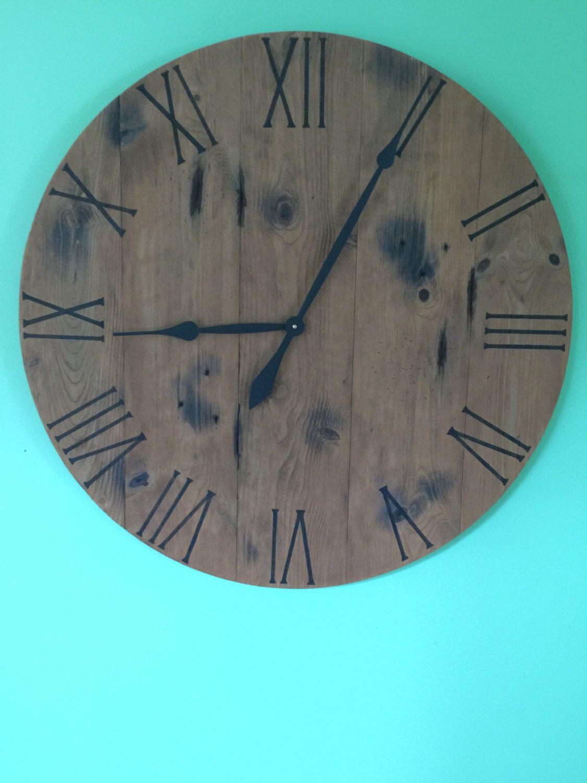 Barn Wood Clock Reclaimed Wood Clock Handmade