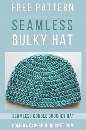 Seamless Double Crochet Hat Pattern Crochet Hats Headbands