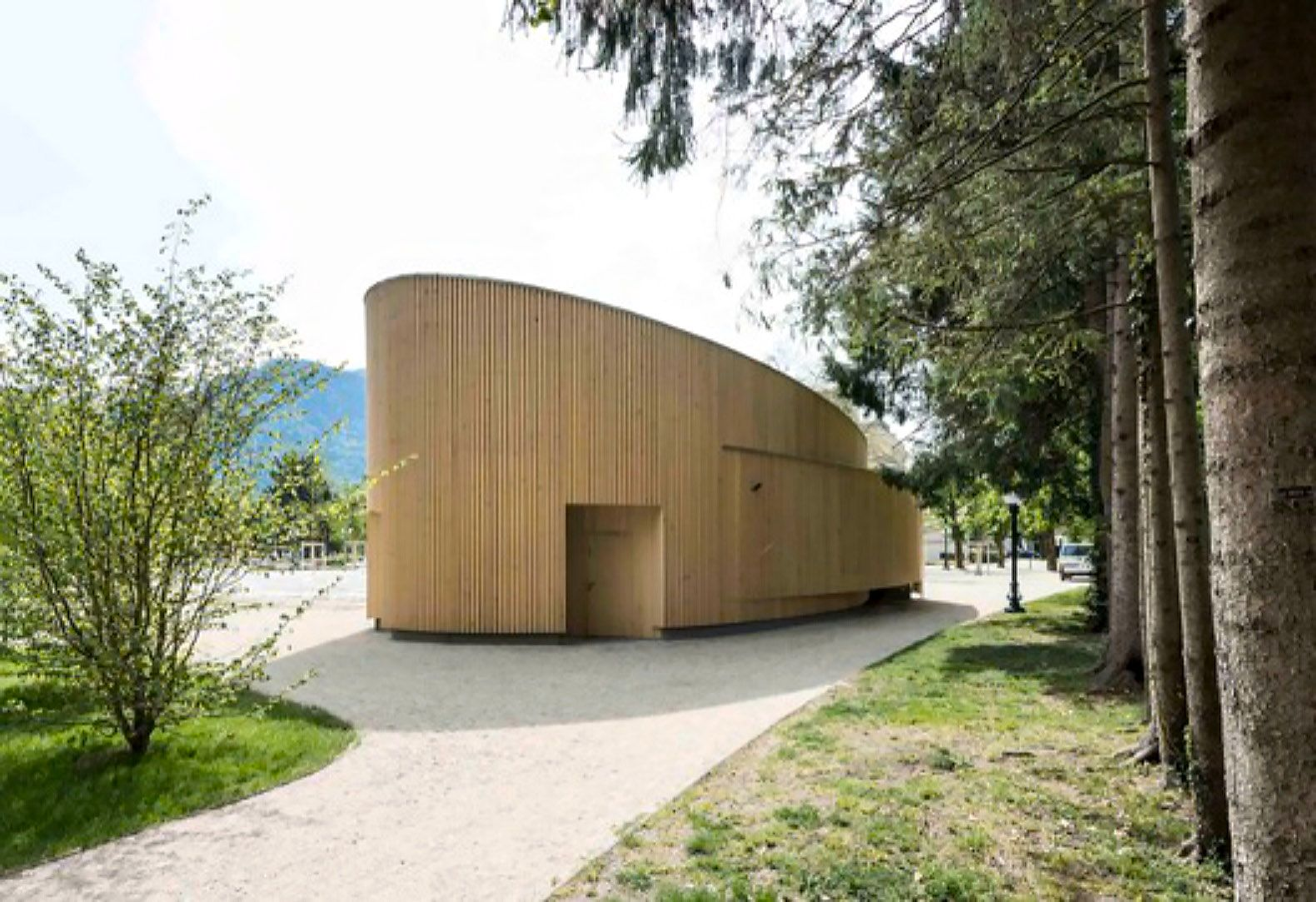 Music Pavilion Two In A Box Architecture Pavilion Architecture Modern Architecture