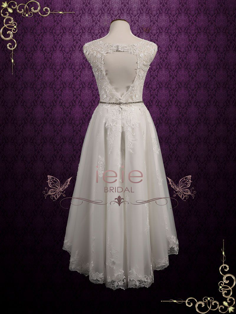 Vintage inspired lace hilow wedding dress nellie in