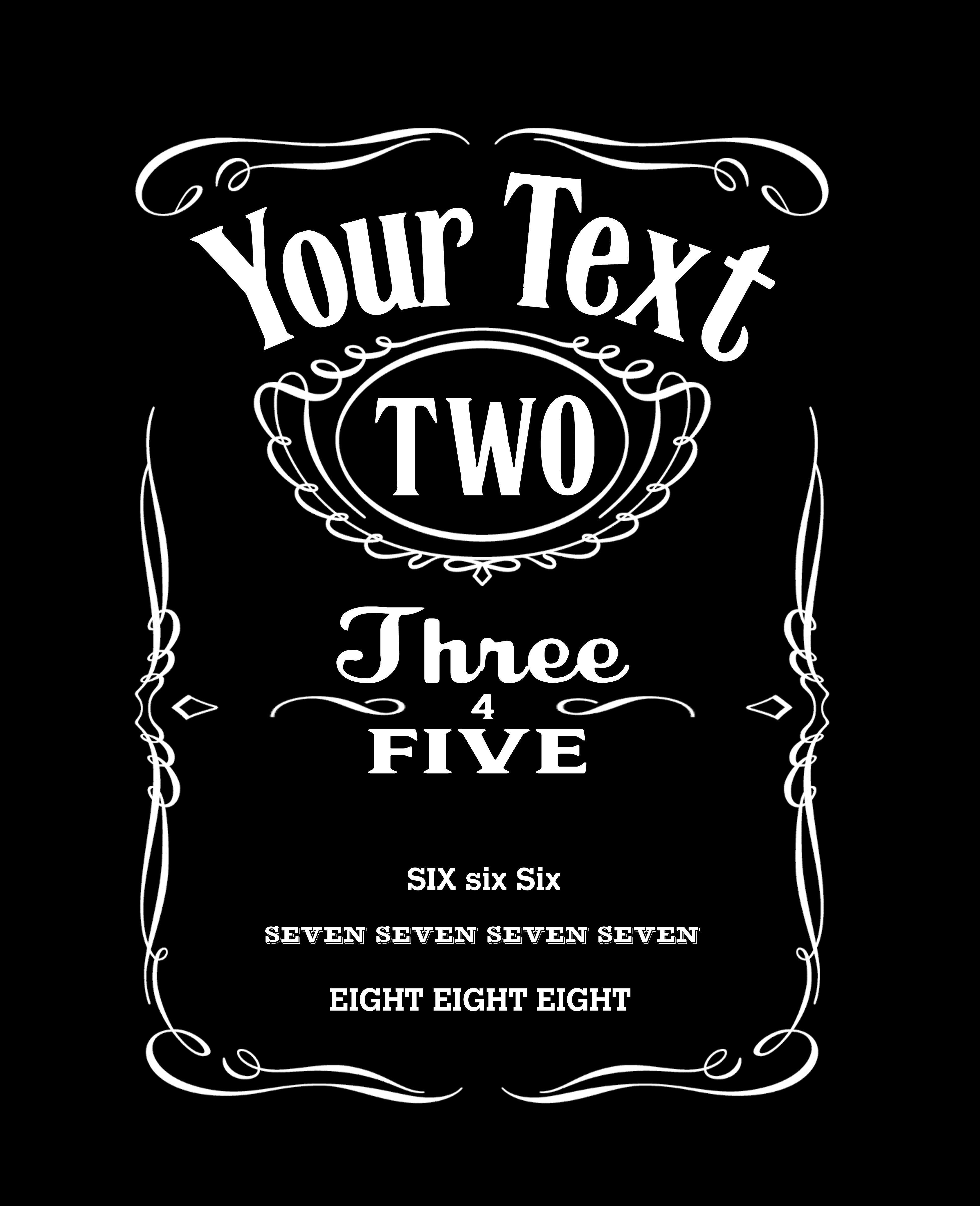 Custom Jack Daniels T Shirt From Brian E Fisher Jack Daniels Label Label Templates Jack Daniels
