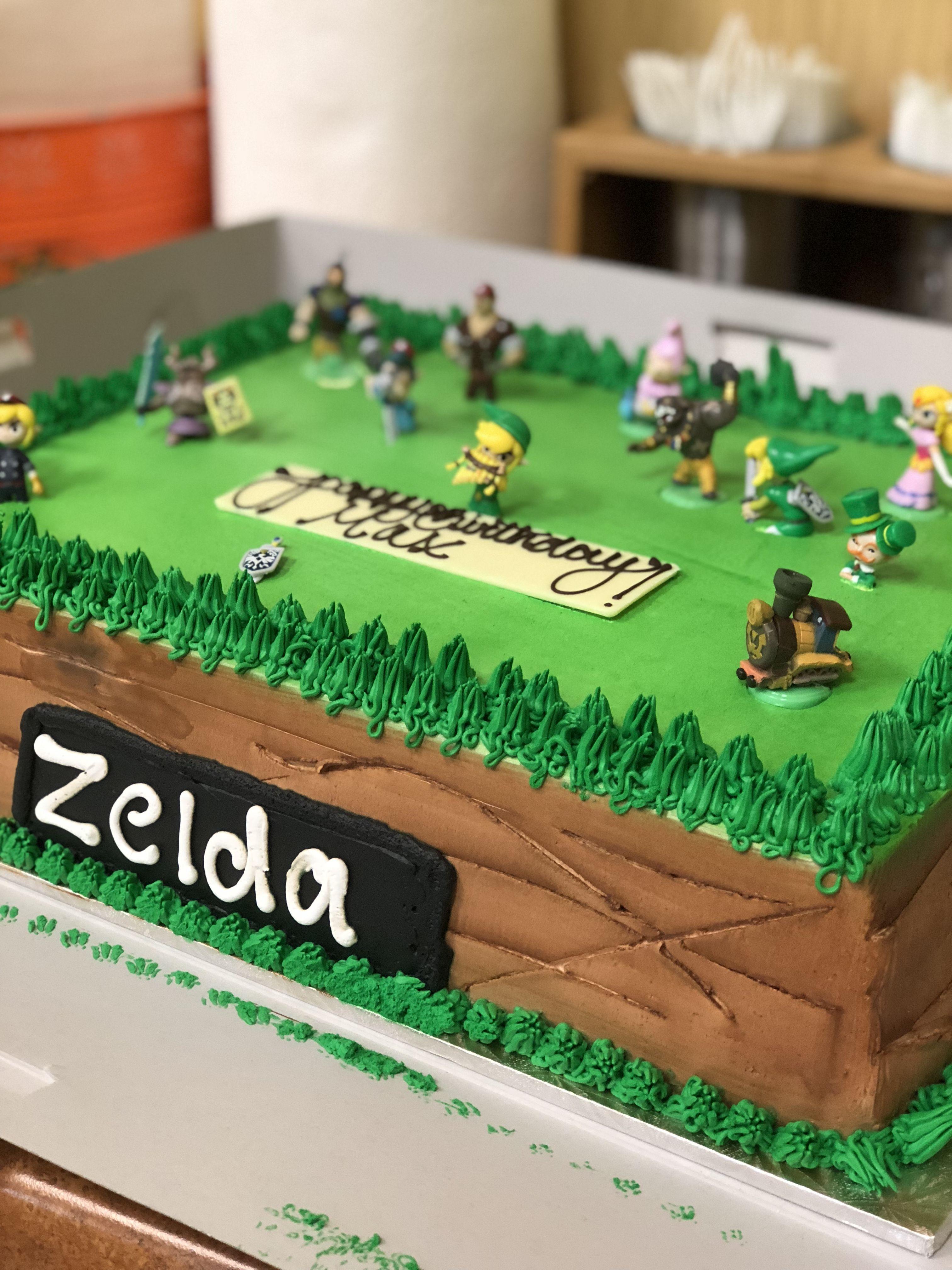 Strange Zelda Birthday Cake Zelda Birthday Zelda Cake Themed Birthday Funny Birthday Cards Online Elaedamsfinfo