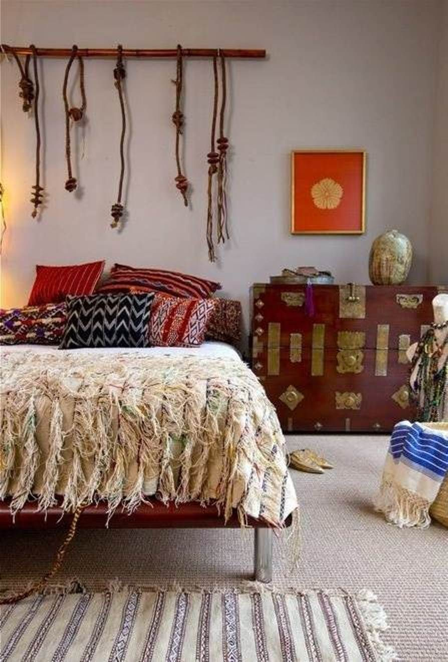 Boho Redecorating Bedroom Ideas    I Like The Bed Legs