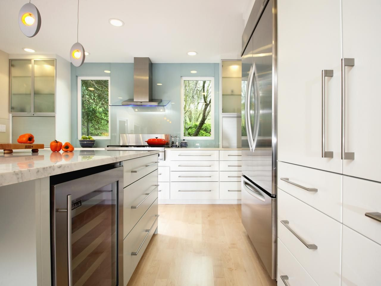 Küchenideen eiche  beste weiße moderne küchenschränke ideen  küche design