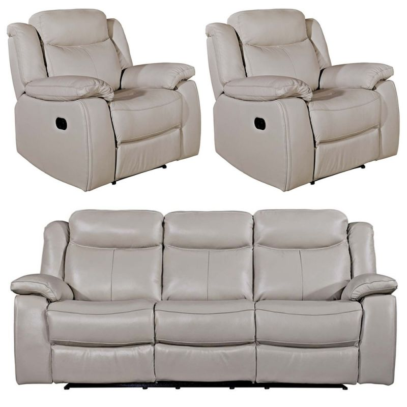 119 Reference Of Leather Reclining Sofa Light Grey In 2020 Leather Reclining Sofa Grey Recliner Reclining Sofa