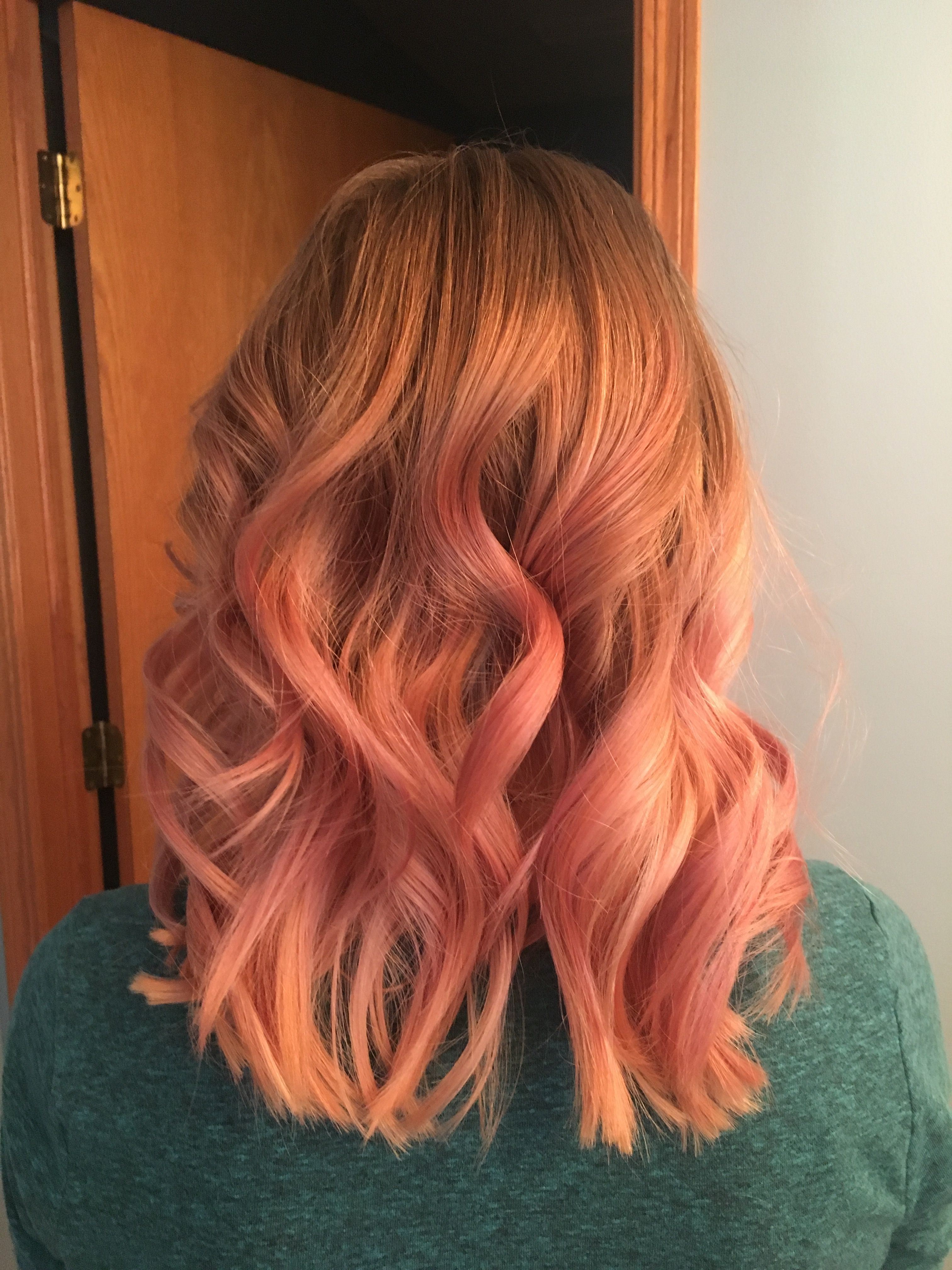My rose gold ombre <3