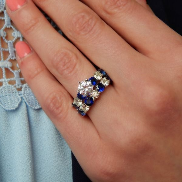 Sapphires And Diamonds Combine To Create An Amazing Engagement