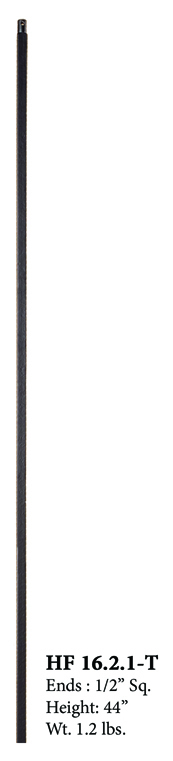 HF16.2.1 T Plain Square Bar Metal Baluster | Westfire Stair Parts