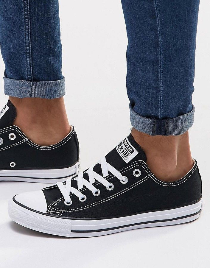 Converse Ox Sneakers In Black M9166C | Sneakers fashion