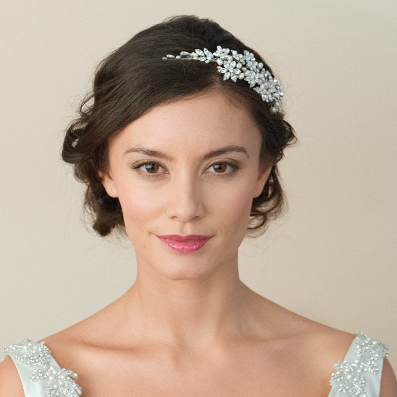 1920 vintage style side wedding hair accessory