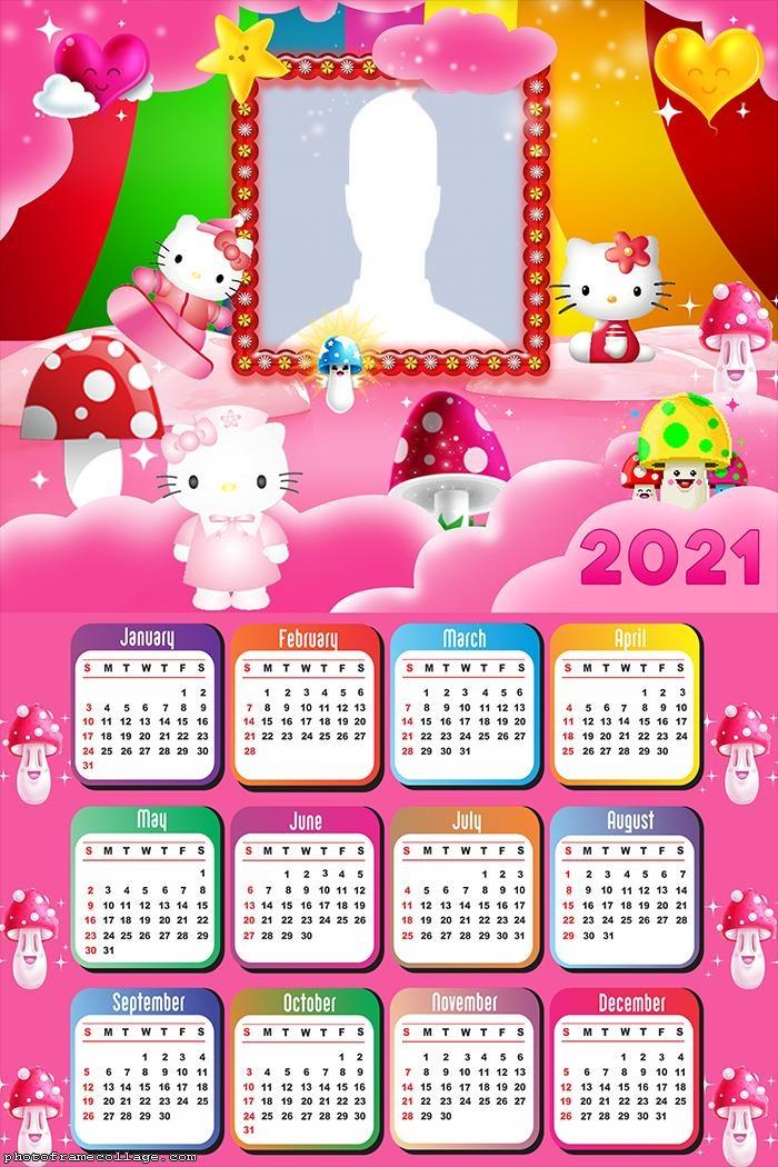 Printable Hello Kitty Calendar 2021 Pictures