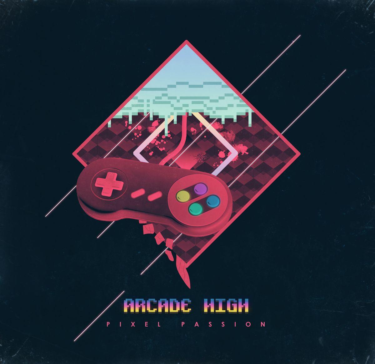 Pixel Passion By Arcade High Rock Album Covers Pixel Neon Art