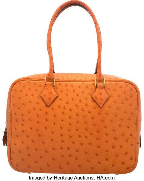 d2da91425aa9 ... coupon code luxury accessoriesbags hermes 28cm orange h ostrich leather  plume bag with gold hardware abfe0 ...