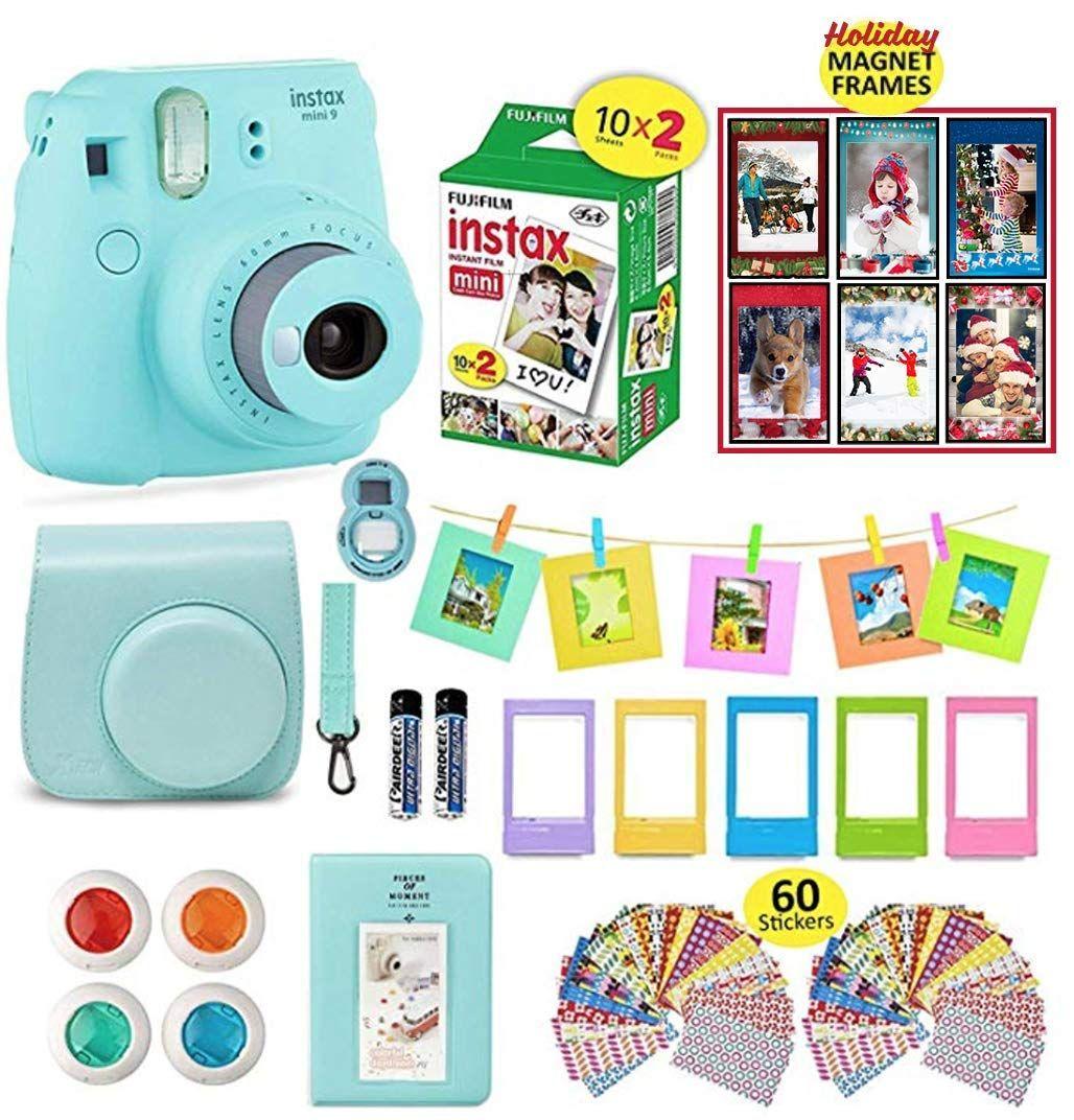 Fujifilm Instax Mini 9 Camera Bundle Ice Blue Instax Camera