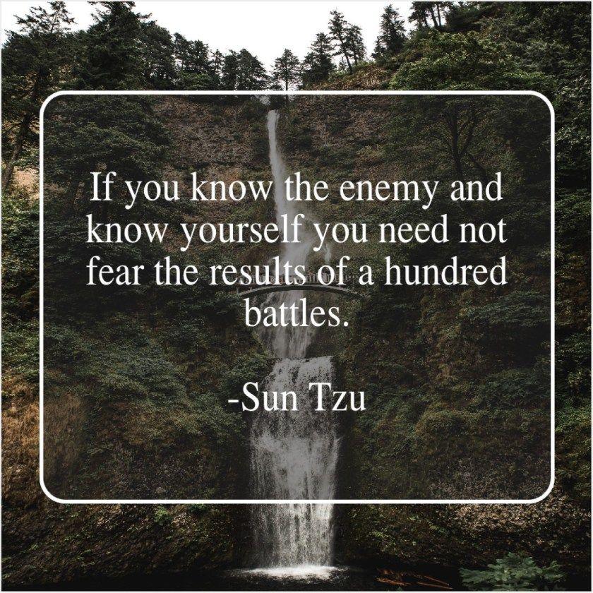 Sun Tzu If you know the enemy Sun tzu, War quotes, Art