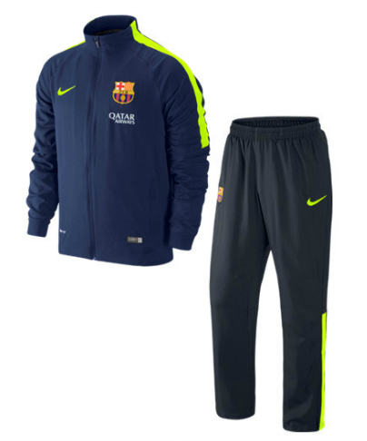 Barcelona Tracksuit Navy Yellow FC Barcelona Official Merchandise Available at www.itsmatchday.com