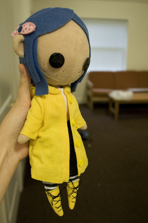 Click For A Larger View Coraline Doll Felt Dolls Diy Doll