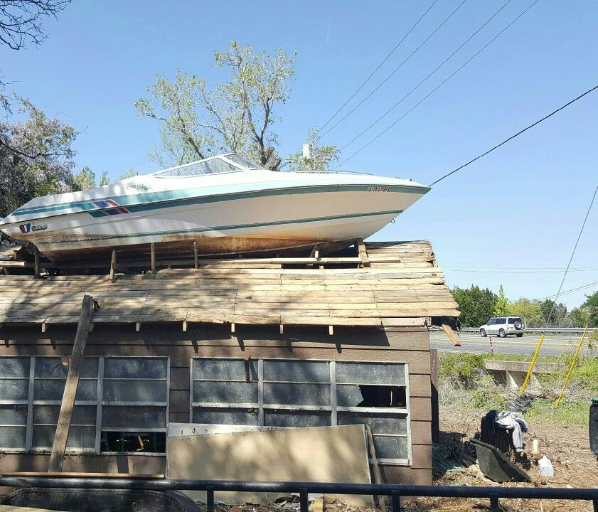 Second life. Create a Landmark from old boat. Seen in Kingsland lake LBJ Texas