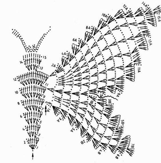crochet buterflies (20) | ARTE DE YOLY | Pinterest | Mariposas ...