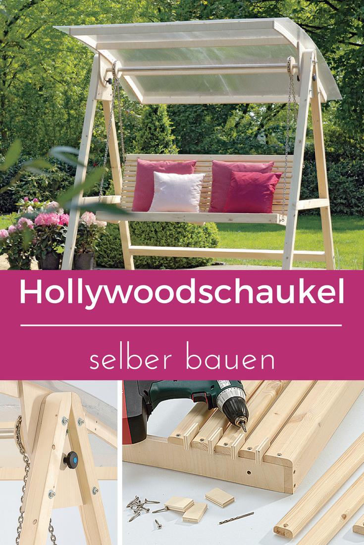 hollywoodschaukel selber bauen | gartenmöbel bauen | pinterest