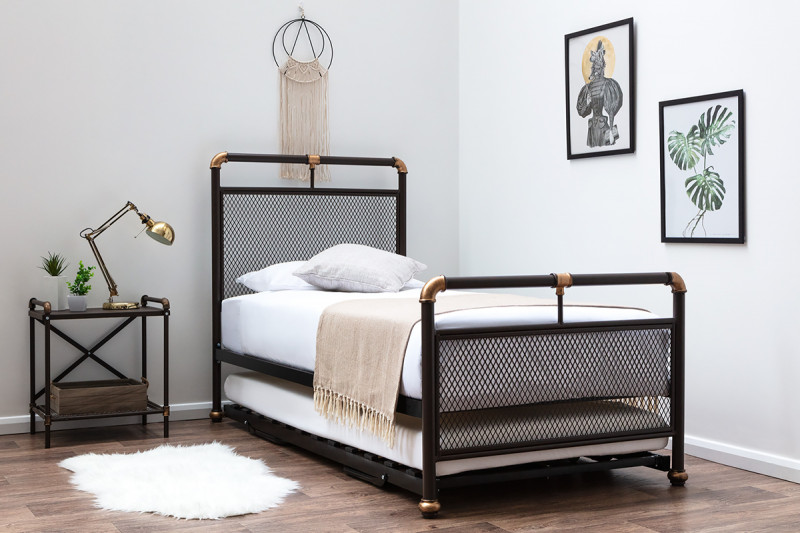 Cambridge Industrial Style Single Metal Bed Frame with
