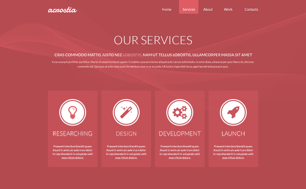 One Page Website Template Psd   Places To Visit